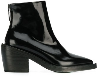 Marsèll Patent Pointed Ankle Boots