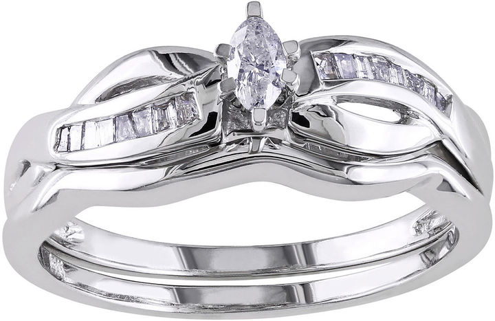 MODERN BRIDE 1/4 CT. T.W. Marquise Diamond Bridal Ring Set