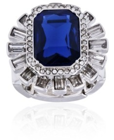 T Tahari Holiday Sparkle Stretch Cocktail Ring