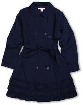 Biscotti Trench Coat (Big Kids) (Navy) - Apparel
