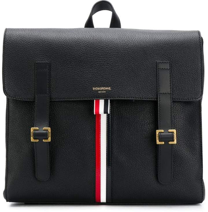 Thom Browne Rwb Stripe Unstructured Book Bag