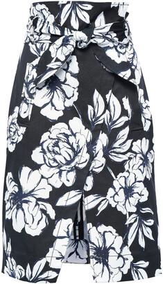 Marissa Webb Belted Faille Skirt