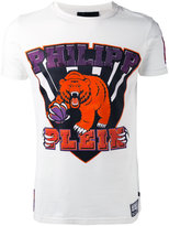 Philipp Plein graphic bear logo T-shirt - men - Cotton - M