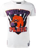 Philipp Plein graphic bear logo T-shirt - men - Cotton - S