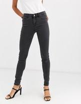 Vero Moda skinny shape up jeans in dark gray