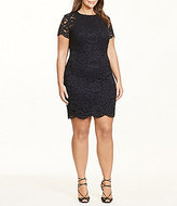Lauren Ralph Lauren Plus Lace Scalloped Sheath Dress