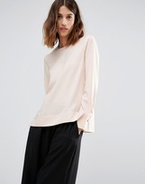 Warehouse Dipped Hem Blouse