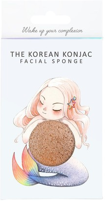 The Konjac Sponge Company Mythical Mermaid Konjac Sponge Box And Hook - Pink Clay