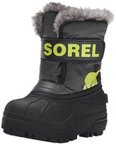 Sorel Unisex Kids' CHILDRENS SNOW COMMANDER Warm lined snow boots short length,(28 EU)