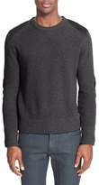 Belstaff Men's 'Parry' Leather Trim Merino Wool Sweater