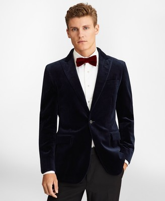 Brooks Brothers Milano Fit Velvet Tuxedo Jacket