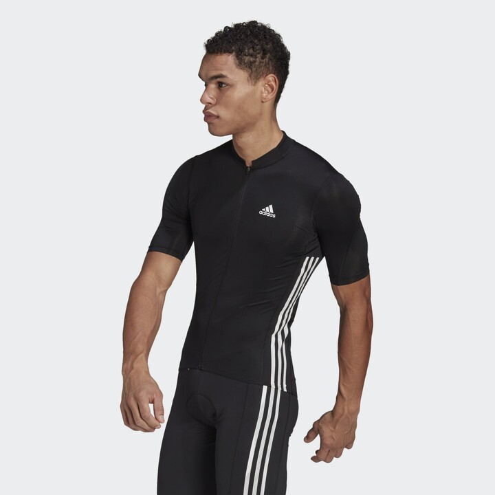 adidas The Short Sleeve Cycling Jersey Black XS Mens - ShopStyle
