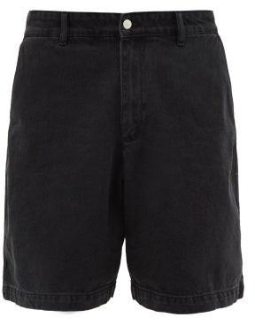 Raey Exaggerated Wide-leg Denim Shorts - Mens - Black