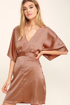 Glamorous Ladies of the Chorus Copper Satin Dress