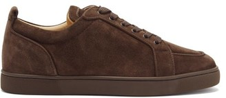 Christian Louboutin Rantulow Orlato Suede Trainers - Brown