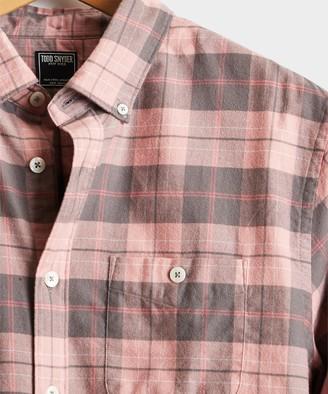 Todd Snyder Pink Plaid Flannel Shirt