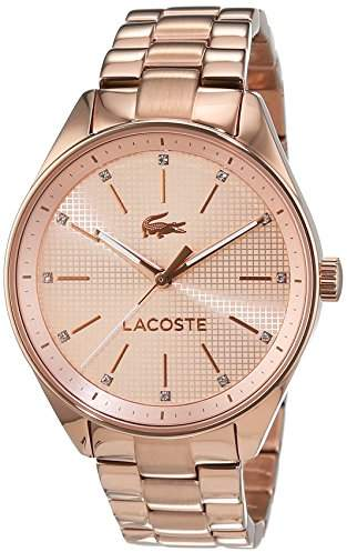 Lacoste Women's 2000899 Philadelphia Analog Display Japanese Quartz Rose Gold Watch