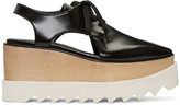 Stella McCartney Black Cut-Out Platform Elyse Derbys