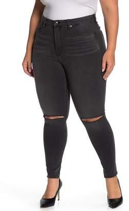 Good American Good Legs Ripped High Waist Skinny Jeans (Regular & Plus Size)