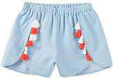 Copper Key Big Girls 7-16 Tassel Woven Shorts