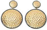 Rarities: Fine Jewelry with Carol Brodie 1.64ctw Blue Diamond Vermeil Hammered Drop Earrings