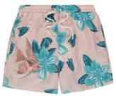 George Pink Fish Print Swim Shorts