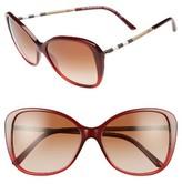 Burberry Women's 57Mm Butterfly Sunglasses - Bordeaux