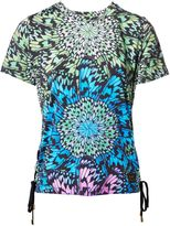 Matthew Williamson Butterfly Wheel Print Lace-Up T-Shirt