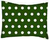 SheetWorld Crib / Toddler Percale Baby Pillow Case - Polka Dots Hunter - Made In USA