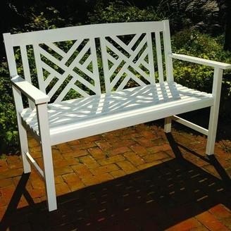 Beachcrest Home Katia Wooden Garden Bench Frame Color: White