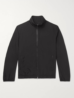 The Row Leo Leather-Trimmed Wool-Blend Blouson Jacket - Men - Black