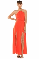 Lovers + Friends Smokin' Hot Halter Dress in Tangerine