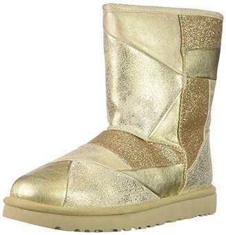 UGG Women's W Classic Glitter Patchwork Fashion Boot