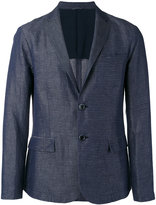 Emporio Armani striped chambray blazer