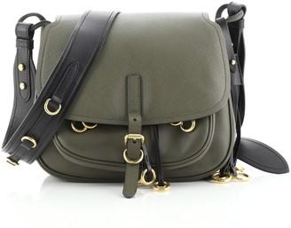 Prada Corsaire Messenger Bag Calfskin and Saffiano Leather