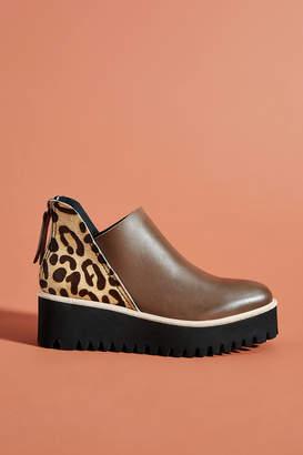 All Black Tread Platform Ankle Boots