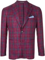 Cantarelli plaid fitted jacket