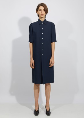 Jil Sander Martel Cotton Silk Tricotine Dress