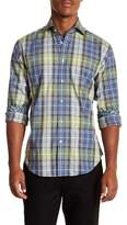 Thomas Dean Plaid Long Sleeve Sport Fit Shirt