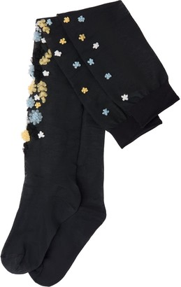 Miu Miu Embroidered Thigh-High Socks