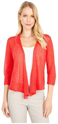 Nic+Zoe Petite Four-Way Cardigan (Poppy) Women's Clothing