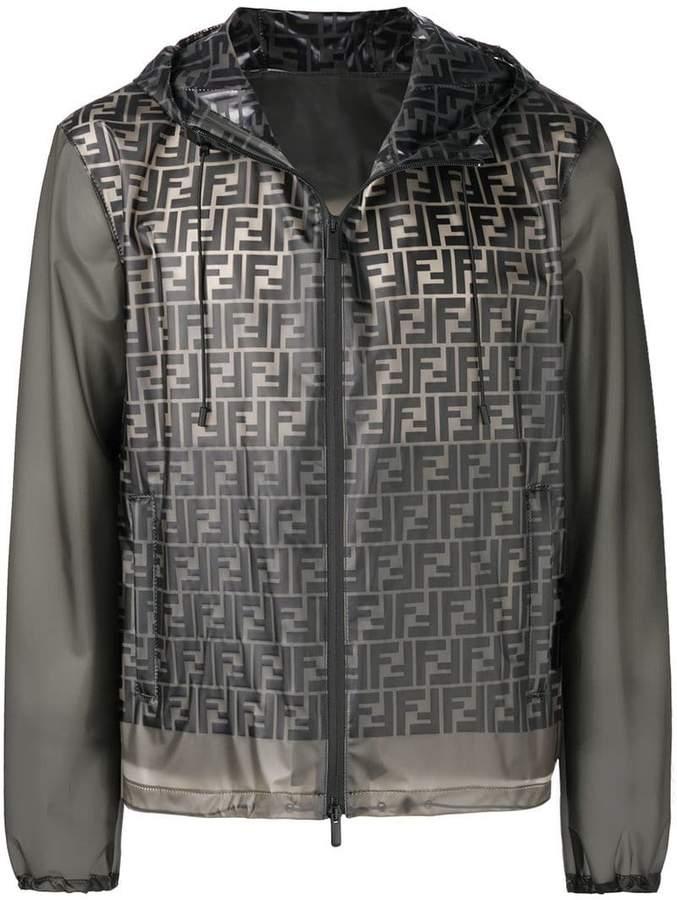 Fendi logo hooded jacket