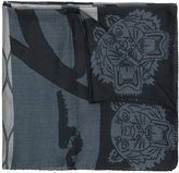Kenzo Tiger patterned scarf