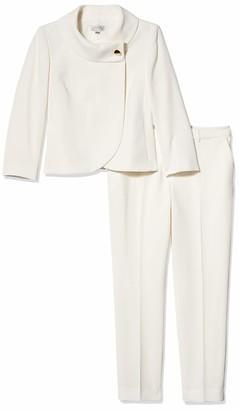 Tahari ASL Women's Wrap Jacket and Ankle Pant Set