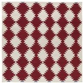 Tribeca Flatweave Red Wordly Wool Rug (8' Square)