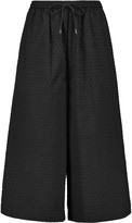McQ by Alexander McQueen Flocked cotton wide leg pants