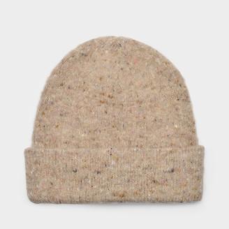 Acne Studios Peele Beanie In Brown Melange Wool