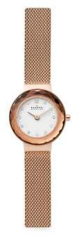 Skagen Leonora Rose Goldtone Steel-Mesh Watch