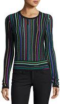 Diane von Furstenberg Arisha Stripe Knit Sweater, Multicolor