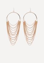 Bebe Draped Chain Earrings